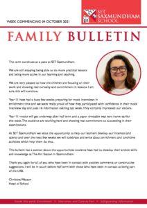 SET Saxmundham School Weekly Family Bulletin